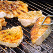Grilling steak from fish 17 - Foto Stock