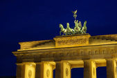 Berlin Brandenburg Gate night 05 — Stock Photo