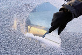 Ice scraping 02 — Stock Photo