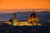 Florence cathedral night 01 — Stock Photo