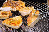 Grilling steak from fish 17 — Foto Stock