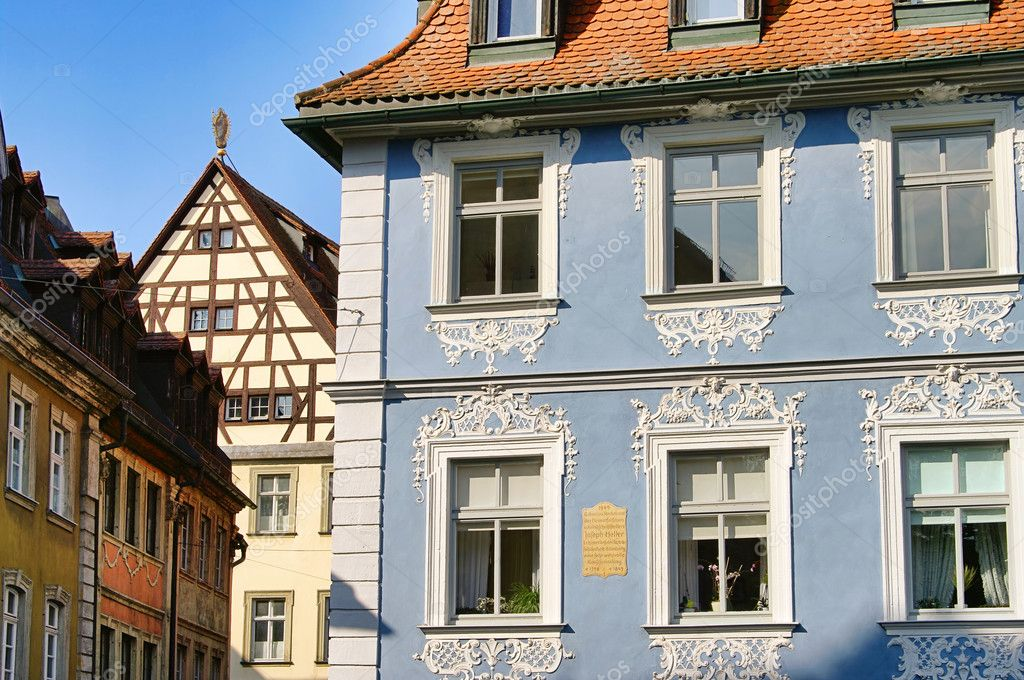 Bamberg town house 01  Stock Photo #10365349