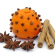 Stock Photo: Tangerines-clove 03
