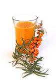 Sallow thorn juice 01 — Stock Photo