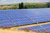 Solar plant on field 03 — Stock Photo