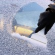 Stock Photo: Ice scraping 02