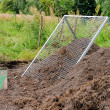 Stock Photo: Compost pile sieve 03