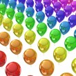 Sea of color balloons - Stock Photo
