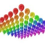 Sea of color balloons — Stock Photo #10095299