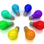 Rainbow bulbs — Stock Photo #10095612