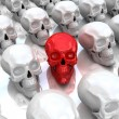 Red skull. Concept of unique. — Stock Photo #10095959