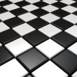Stock Photo: Black and white chess background