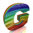 Letter G from fur rainbow alphabet — Stock Photo #10096405