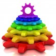 Rainbow gears — Stock Photo