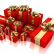 Stock Photo: Gifts isolated on white.