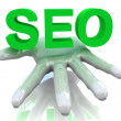 Stock Photo: 3d SEO in hand