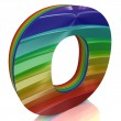 Letter O from fur rainbow alphabet — Stock Photo #10097516