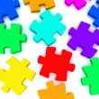 Stock Photo: Jigsaw puzzle on white background. 3d rendered image