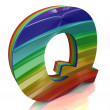 Letter Q from fur rainbow alphabet — Stock Photo #10097887