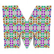 Letter M from stars alphabet. — Stock Photo #10098412