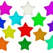 Colorfull stars — Stock Photo