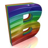 Letter B from fur rainbow alphabet — Stock Photo
