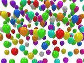 Sea of color balloons — Stock Photo