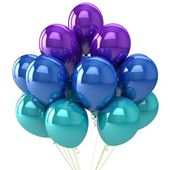 Party balloons multicolor. — Stock Photo