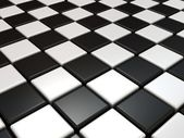 Black and white chess background — Stockfoto