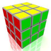 Cubo del rompecabezas 3d — Foto de Stock