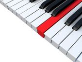 Piano keys. Concept of unique. — Stock Photo