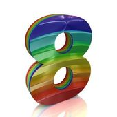Number 8 from rainbow set — Stock Photo