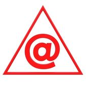 Red email sign — Stock Photo