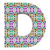 D 星のアルファベットからの手紙. — ストック写真