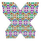 Letter X from stars alphabet. — Stock Photo