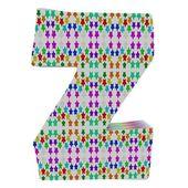 Letter Z from stars alphabet. — Stock Photo