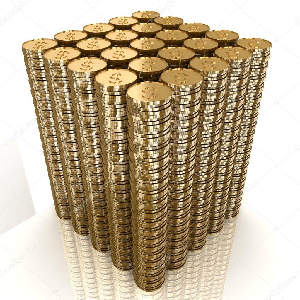 Башня из монет
