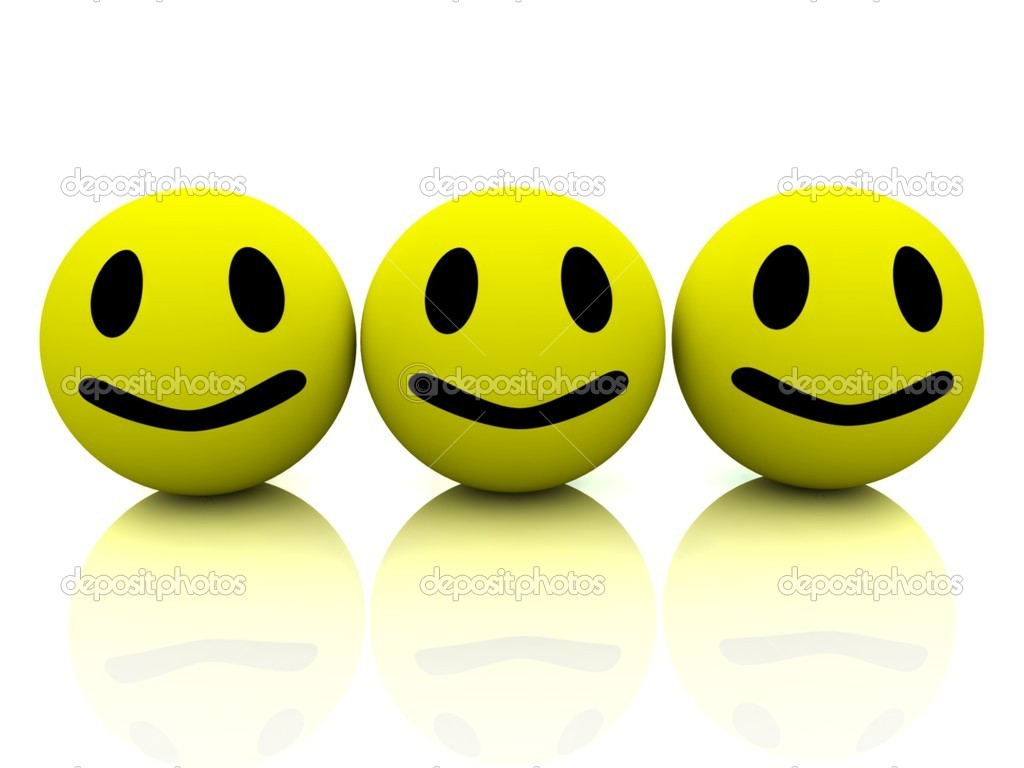 3d yellow smiling faces — Stockfoto #10098329