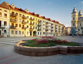 Market Square in Ivano-Frankivsk, Ukraine — Stock Photo