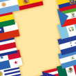 Stock Photo: Spanish-speaking countries flags