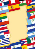 Spanish-speaking countries flags — Stock Photo