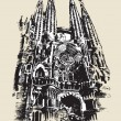 La Sagrada Familia sketch - Stock Vector