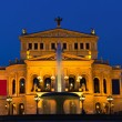 Opera House of Frankfurt at twilight - Stock Photo