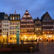 Historic Centre of Frankfurt at Twilight - Stock Photo
