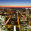 Glowing Streets of Frankfurt - Stock Photo