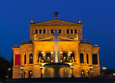 Opera House of Frankfurt at twilight — Stock Photo