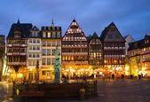 Historic Centre of Frankfurt at Twilight — Stok fotoğraf