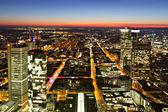 Frankfurt parlayan sokaklarında — Stok fotoğraf