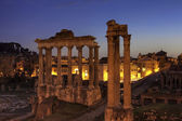 Blue hour at the Forum Romanum, Rome — Stock Photo