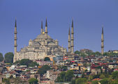 Cityscape of Istanbul with famous Suleymaniye Mosque — Stock Photo
